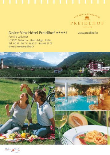Dolce-Vita-Hôtel Preidlhof S