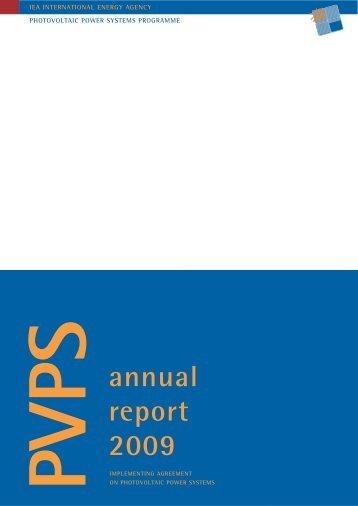 Annual report IEA-PVPS 2009 - NET Nowak Energie & Technologie ...