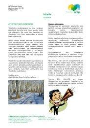Uutiskirje 1/2013 - MTK
