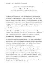 DIE KULTURELLE UNTERSCHEIDUNG1 - Wolfgang Fritz Haug