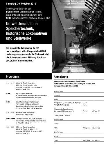 Umweltfreundliche Speichertechnik, historische Lokomotiven ... - Sgti