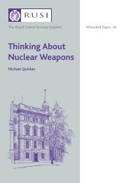 Thinking About Nuclear Weapons - RUSI