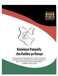 Kielelezo Patanifu cha Katiba ya Kenya - ConstitutionNet