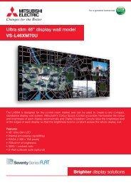 """Ultra slim 46"""" display wall model VS-L46XM70U"""