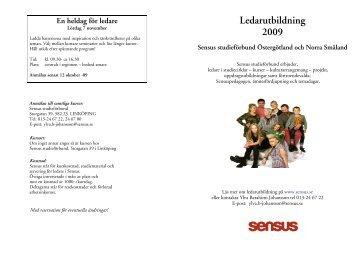 Ledarutbildning 2009 - Sensus