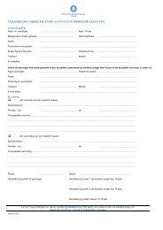 Verzoek om aanvulling medische gegevens - UMC Utrecht