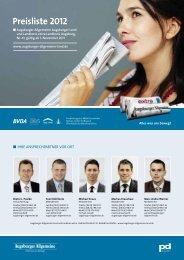 Preisliste 2012 - Augsburger Allgemeine | Mediadaten