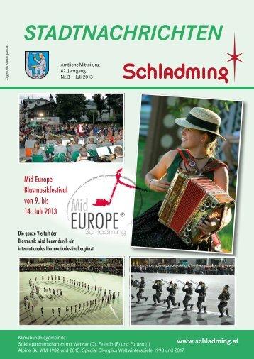 Ausgabe Juli 2013 - Stadtgemeinde Schladming