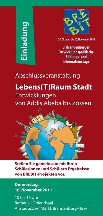 einladung zur messe (pdf) - familienbildung in brandenburg, Einladung