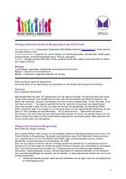 Verslag - Landelijk Platform GGz