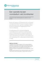 Een operatie bij - Havenziekenhuis Rotterdam