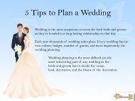 5 Tips to Plan a Wedding