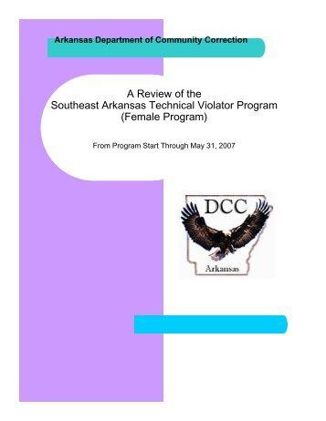 A Review of the Southeast Arkansas Technical Violator Program ...