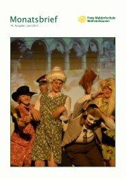 Monatsbrief Juni 2013 - Freie Waldorfschule Wolfratshausen