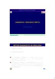 METODI DIAGNOSTICI IN VIROLOGIA - Sezione di Microbiologia