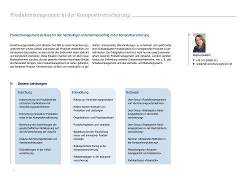 Unternehmensbroschüre - Versicherungsforen Leipzig