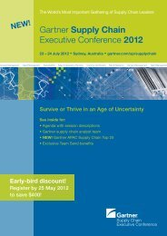 Gartner Supply Chain Executive Conference 2012