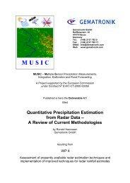 Quantitative Precipitation Estimation from Radar Data – A ... - einfalt.de