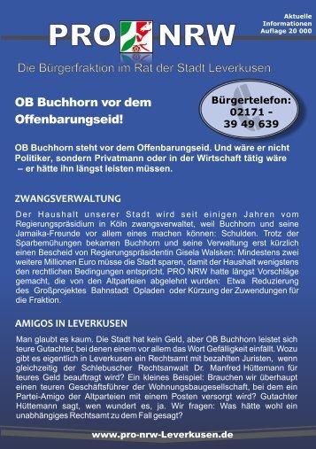 Kampagnen-Flugblatt - Pro NRW