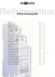 Reiheneinbaugeräte - ABL-Polska