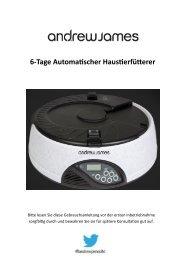 6-Tage Automatischer Haustierfütterer - Andrew James UK Ltd