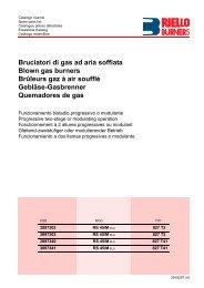 Bruciatori di gas ad aria soffiata Blown gas burners Brûleurs gaz à ...