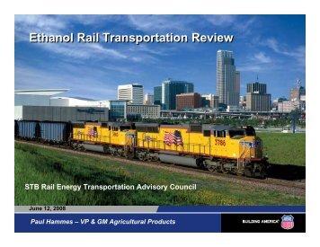 Ethanol Rail Transportation Review