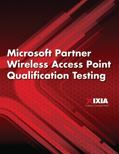 Microsoft Partner Wireless Access Point Qualification