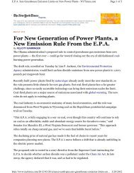 For New Generation of Power Plants, a New Emission Rule From ...