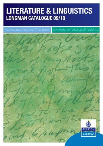 Linguistics Catalogue 09-10.indd - Pearson