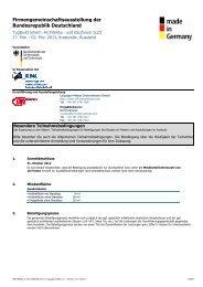 Besondere Teilnahmebedingungen - Leipziger Messe International ...