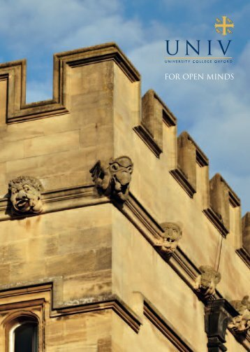 FOR OPEN MINDS - University College - University of Oxford