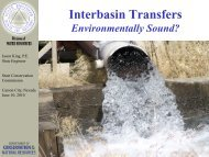 Interbasin Transfers - The Nevada Department of Conservation and ...