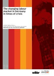 The changing labour market in Germany in times of crisis - Solidar