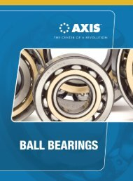 Axis Ball Bearing Catalog (PDF) - McGuire Bearing Company