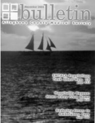 November 2003 Bulletin - Allegheny County Medical Society