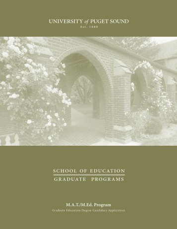 school of education graduate programs - University of Puget Sound