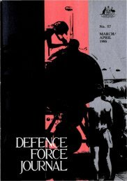 ISSUE 57 : Mar/Apr - 1986 - Australian Defence Force Journal