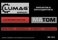 Onderdeelboek Matom/Lumag