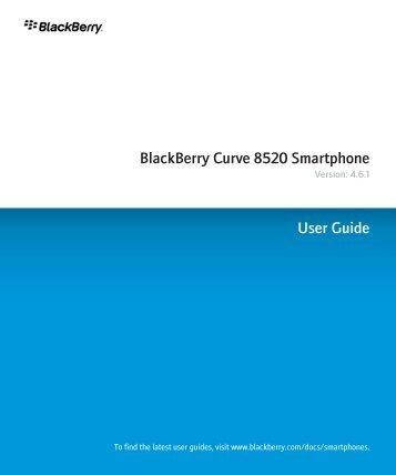 Blackberry 8900 curve user guide.