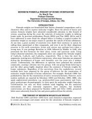 MINIMUM FORMULA WEIGHT OF HUMIC SUBSTANCES - Weebly