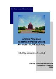 Analisis Perjalanan Rancangan Undang-Undang Kesehatan (RUU ...