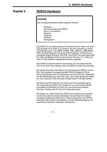 Kapitel 2 SDR33-Hardware - Glm-laser.com