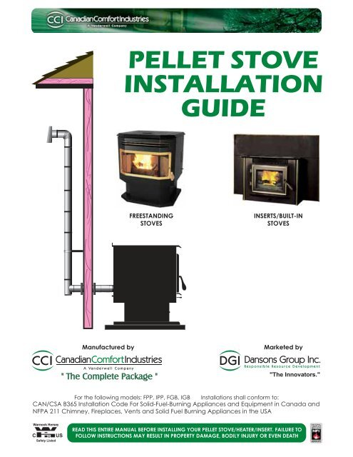 Pellet Stove Installation Guide Northern Tool Equipment