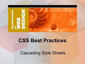 9. CSS Best Practices