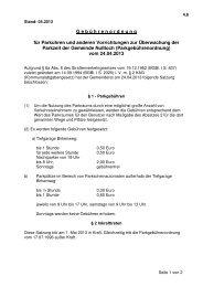 Parkgebührenordnung Stand 04 2013 - Nußloch