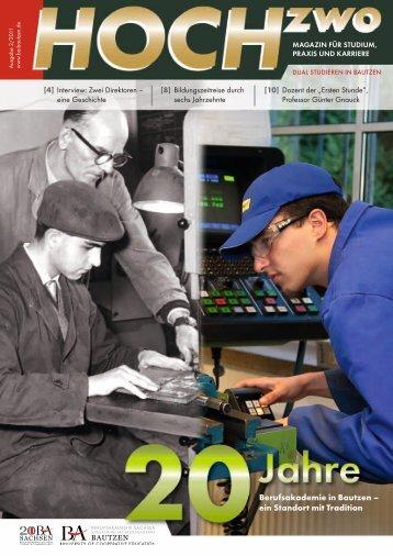 HOCHzwo - Ausgabe 2/2011 - der Studienakademie Bautzen
