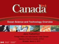 Ocean Science and Tecnology Overview - March 2013 - Canada ...