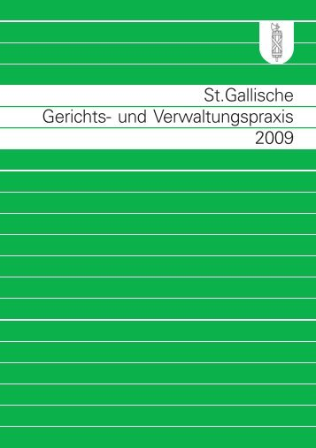 St.gallische Gerichts- und Verwaltungspraxis 2009