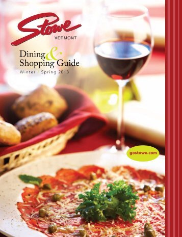 Dining Shopping Guide - GoStowe.com